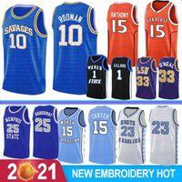 David 50 Robinson Ncaa Basketball Jersey Anfernee 25 Hardoway Damian 1 Lillard Ray 34 Allen Universidade de Alta Qualidade Gary 20 Payton 23 Men For College