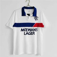 White Rangers Men's T-shirt Lapel Top Retro Jersey Soccer Polos