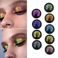 Eye Shadow 1pcs Optical Chameleon Eyeshadow Light Change Diamond Shine Pearlescent Metal Shiny Palette