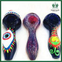 Cute Eye Loveheart Spoon Smoking Pipes Hookah Bong Glass Oil Burner Tobacco Rig Accessories Gift