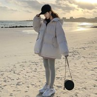 Warm Winter Jas Woman Black Park Sweet Preppy Style Thicked Loose Short Cotton Coated Coats Women Herf Jacket 2020