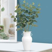Decorative Flowers & Wreaths Green Artificial Eucalyptus Leaf Leaves Plants Money Fake Wall Wedding Shooting Prop Home Decor