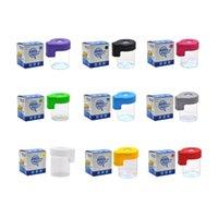 Magnifying Stash Jars Sample Tank Glass Jar Oil Bottle 155ml Box container dab tool for vape Herb Cream LED LIGHTED