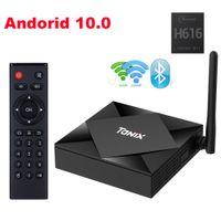 Tanix TX6S TV 박스 Allwinner H616 안드로이드 10.0 2.45.8g 듀얼 와이파이 블루투스 4G 64G 스마트 미디어 플레이어 YouTube HD 셋톱 박스