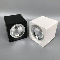 Bulbos LED Downlight 7W 9W 12W 15W COB CHIP Empotras empotradas Luz de techo Lámpara de luz blanca / blanca cálida 12pcs
