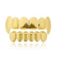 الهيب هوب الأقواس الأسنان جريلز الذهب الحقيقي مغني الراب الذهب الحمالات الهيب هوب الأزياء والمجوهرات مجوهرات