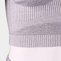 Ampio fitness di yoga da donna a due pezzi Asciugatura rapida Sport Stripe Asciugatura T057 5FK7