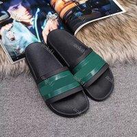 2021 이탈리아 럭셔리 디자이너 슬라이더 Mens Womens 여름 샌들 해변 슬라이드 슬리퍼 숙녀 플립 플롭 로퍼 하늘 블루 블루 Chaussures
