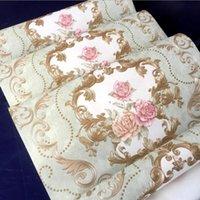Wallpapers rolar papel de parede Bem em relevo sala de estar quarto 3d simples estilo europeu não tecido decoração de casa 0804