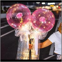 Светодиодный светлый букет воздушных шаров прозрачный бобо мяч роза день Святого Валентина подарок подарок день рождения вечеринка свадебные украшения воздушные шары EWA3059 HSVGI XGDEJ