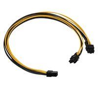 PCI-E PCI EXPRESS 6PIN hembra a doble 2pin 8Pin 8Pin (6 + 2Pin) Male F / M Adaptador Adaptador GPU Tarjeta de video Cable de alimentación Cables de la computadora Cable de Cable Cable Cable