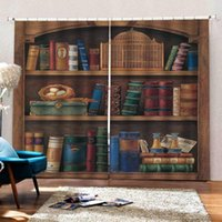 Curtain & Drapes 3D Curtains Living Room Bedroom Bookself For Luxury Window Blackout