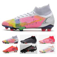 Bolsa Presente رجل كرة القدم أحذية عالية قمم بوتاس دي فيوتول CR7 Vapores Mercuriais 14 النخبة FG CLEAVES AO AR Livre Neymar Acc Superfly XIV Soccer Shoe
