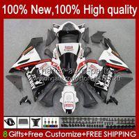 Moto Body For KAWASAKI NINJA OEM ZX600C ZX636 ZX 6R 6 R 600CC 05-06 Bodyworks 7No.21 ZX600 ZX 636 ZX-6R 2005 2006 ZX-600 ZX-636 600 CC ZX6R 05 06 ABS Fairing Kit red white