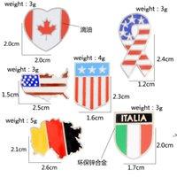 럭셔리 디자인 선물 브로치 아메리칸 국립 캐나다 플래그 독일어 이탈리아 에나멜 플래그 옷깃 핀 버튼 옷깃 브로치 HWD9495
