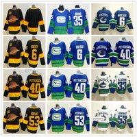 2020 New Vancouver Canucks Eishockey 40 Elias Pettersson 6 Brock Boeser Männer Trikots 53 BO Horvat 33 Sedin 35 Thatcher Demko Jersey