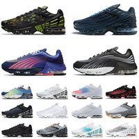 Classic Tn Plus 3 Tuned 2 Running Shoes Mens Womens Black White Blue Aqua Volt Ghost Green Neon Purple Grey Sports Sneakers Runner Trainers Size 36-46