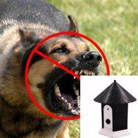 في الهواء الطلق بالموجات فوق الصوتية الحيوانات الأليفة التحكم النباح التدريب نباح الردع المعدات للحيوانات الكلب القط جهاز مع مربع التجزئة