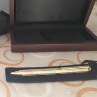 أقلام هدية معدنية ذهبية Rosegolden الفضة أو الأسود متقلب الأحمر الخشب مربع حبر جاف القلم الفاخرة الكلاسيكية