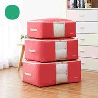 Storage Bags 3PCS Non-Woven Family Save Space Organizador Bed Under Closet Box Clothes Divider Organiser Quilt Bag Holder Organizer