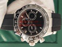 Mens Basel World BP 공장 손목 시계 116719 아시아 7750 Secs 6:00 Valjoux 자동 크로노 그래프 수입 품질 세라믹 베젤 시계
