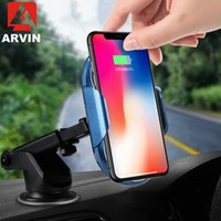 Cell Phone Mounts & Holders Arvin Infrared Induction Wireless Car Charger For XS Max XR S9 Qi Fast Wirless Charging Stand