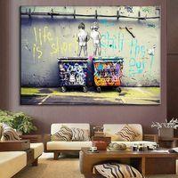 Straßenölgemälde auf Leinwand Home Decor Handgemalt / HD-Print Wandkunst Bild Anpassung ist akzeptabel 21051905