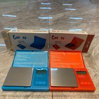 Mini Échelle numérique électronique avec batterie bleu rouge 500g 0.01g Précision Bijoux Bijoux Gold Herbe Poids Poids Dispositif Tirez le kit de style