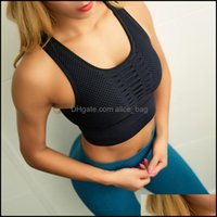 Spor Egzersiz Giyim Atletik Açık Giyim OutdoorsYYM Giyim Fanceey Dikişsiz Spor Sutyen Üst Fitness Kadınlar Racerback Çalışan Kırpma Tops