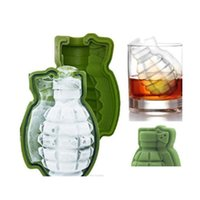Tools Kitchen, Dining Home & Garden Drop Delivery 2021 3D Grenade Shape Cube Mold Creative Sile Trays Molds Kitchen Bar Tool Mens Gift Ice Ma