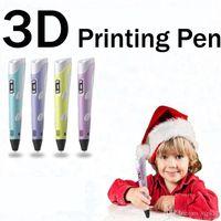 2019 Hot 3D Drawing Pen DIY 3D Printer Pen ABS Filament 1.75mm Arts 3D Printing Pen LCD Educational Gift For Kids Design Painting Drawing C2