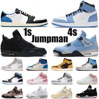 Jumpman 1 zapatos bajos de baloncesto 1S TOP OG UND CRABAJA PURPLE ORBIT AURORA Smoke Gris CRED Universidad Entrenadores de oro Tamaño 36-46