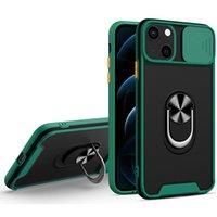 슬라이드 창 전화 케이스 iPhone 13 12 11 삼성 S21 A82 A72 A52 A32 카메라 보호 홀더 Shockproof 보호 커버