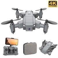 DRONES KY905 4K 카메라가있는 미니 드론 HD Foldable Quadcopter One-Key Return FPV가 나를 따르려면 RC 헬리콥터 Quadrocopter Kid 's Toys