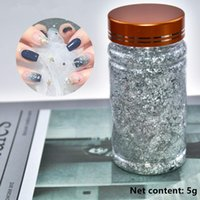 Box Silvery Foil Colorful Bronze Stickers Nail Art Metal Full Cover Nails Transfer Paper Decoration Diy Design D6 Decorations