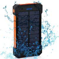 المحمولة بالطاقة الشمسية powerbank 20000mAh ماء بطارية خارجية احتياطية شحن سريع شحن شاحن بطارية الهاتف أدى للهاتف العالمي