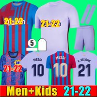 21 22 FC Barcelona futbol forması BARCA camiseta de futbol KUN AGUERO ANSU FATI 2021 2022 MESSI GRIEZMANN F.DE JONG DEST COUNTINHO futbol forması seti erkek + çocuk setleri çorap