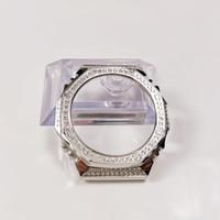 Watch Bands Diamond GA2110 All Metal Strap Bezel Replacement Accessories GA-2110 2100 Sliver Gold