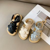 Baby Sandalen Kinder Schuhe Mädchen Kinder Schuhe Sommer Leder Blume Prinzessin Tragen B5453