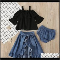 3Pcs Sets For Clothing Set Sling Top Denim Skirt + Pp Shorts Girls Boutique Fall Clothes Kids Suits Girl Outfits 440 Y2 5Aayv Mn6Vs