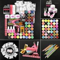 아크릴 네일 키트 UV 젤 세트 파우더 120ml 액체 거짓 팁 미술 도구 Manicure Set1