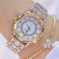 Designer Brand Brand Orologi Diamante Donne Strass Elegante Signore ES Rose Gold Orologio da polso per Relogio Feminino
