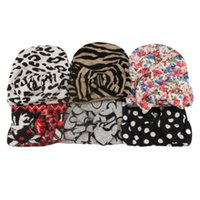Newborn Baby Crochet Bow Hats Cute Baby Girls Leopard Soft Knitting Hedging Caps Big Bows Autumn Winter Warm Tire Cotton Cap 600 Y2