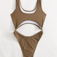 open Platform new swimsuit belly women's one-piece triangular open back Sexy Bikini Swimsuit