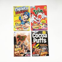Mylar Empty Edibles Packaging bag Trix Cocoa Reese's Crunch Berries Stand up Pouch Zipper Sealed Plastic Bags