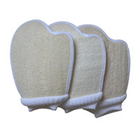 Loofah Double Sided Bathing Gloves Full Body Bath Brush Scrubbing Exfoliating Massage Glove Household Bathroom Cleaning Tools GWB7278