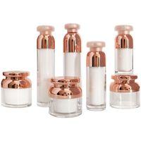 15/30 / 50g creme jarro cosmético pote 15/30 / 50ml garrafa de bomba de loção acrílica diy frascos recipientes recipientes recipientes