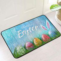 Carpets 1PC Door Mat 40*60 Easter Day Decoration Doormat Anti-skid Bottom Floor Indoor Outdoor Carpet Bathroom Bedroom