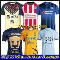 21 22 Club America Cruz Azul Soccer Jersey 2021 2022 Guadalajara Chivas 115th Tijuana Unam Tigres Home Away Terceira Liga MX Camisas de Futebol Santos Laguna México