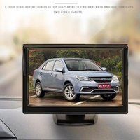 Car Video 5 Inch HD LCD Parking Monitor Rear View Universal Assistance Suction Cup Bracket Installation Optional